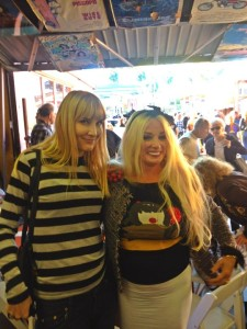 The author and Mamie Van Doren (photo by Thomas Kreuzer)