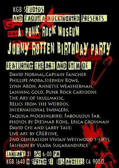 Punk Museum Johnny Rotten