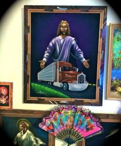 Come worship at the shrine of Velvet Jesus (photo by Nikki Kreuzer)