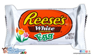 Reese's White Egg, one of many white chocolate options this year.