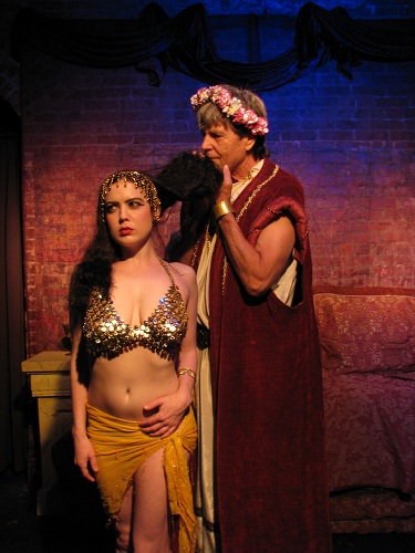 Deneen Melody as Salome and Elias McCabe as Herod--Photo Courtesy of Steven Sabel