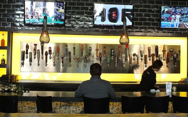 The Bar at Eureka! features craft beers and small batch whiskeys to enjoy