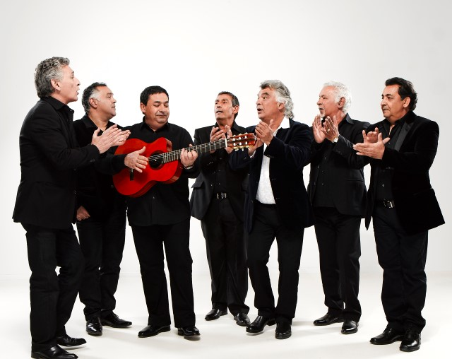 Photo: 186  Left to right: Patchai Reyes, Andre Reyes, Tonino Baliardo, Diego Baliardo, Nicolas Reyes, Pablo Reyes, Paco Baliardo.  Credit: Pascal Ito - copyright Gipsy Kings