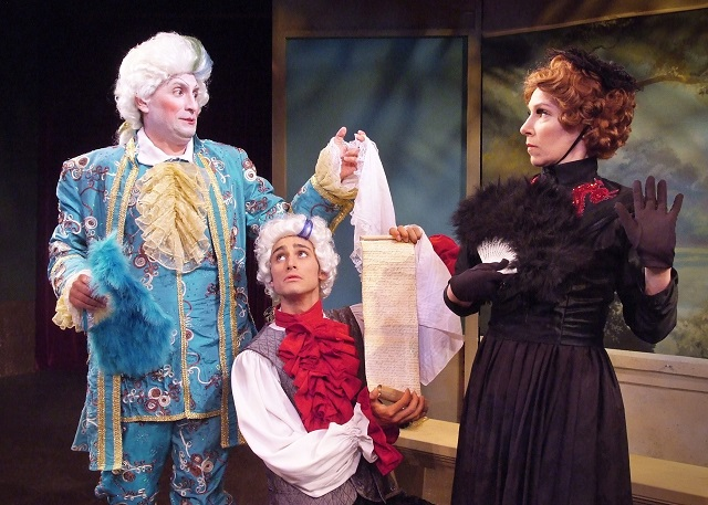 Madame Argante Sizing Up--or possibly Sizing Down--The Marquis de Fauxpas:  Photo Courtesy of Ed Kreiger