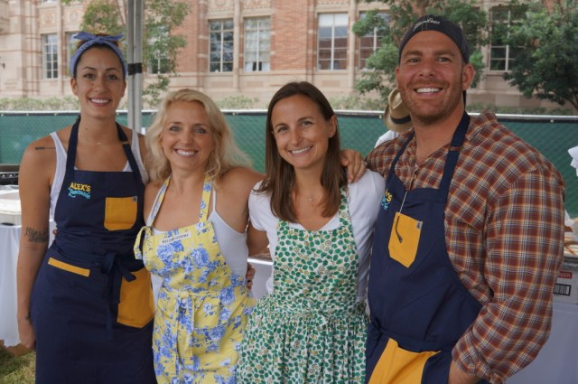 Michael Fiorelli and Rebecca Merhej with their team from Love & Salt at Alex's Lemonade(Elise Thompson)