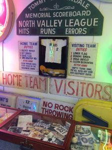 Bad News Bears exhibit at the Valley Relics Museum (photo by Nikki Kreuzer)