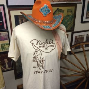 A t-shirt for the famous Nudie Western Tailors once located on Lankershim in North Hollywood (photo by Nikki Kreuzer)