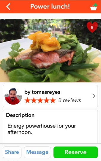Salmon power lunch app pic
