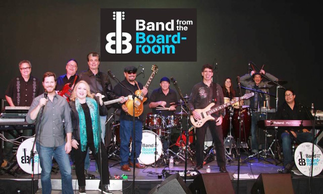 BAND FROM THE BOARDROOM PIC. Courtesy of Doug Deutsch PR