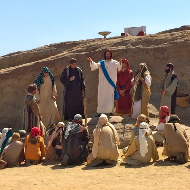 Jesus converts the peasants at Vasquez Rocks (photo by Nikki Kreuzer)