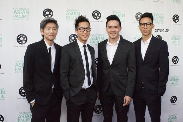 Wong Fu Productions at their opening night of LAAPFF at the Aratani Theatre. Photo by Genesia Ting for the Los Angeles Beat.