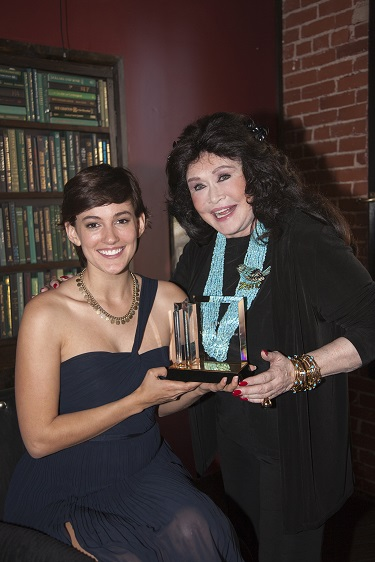 Barbara Van Orden with this Year's L.A.'s Next Great Stage Star Winner Tory Stolper; Photo Courtesy of Bill Dow