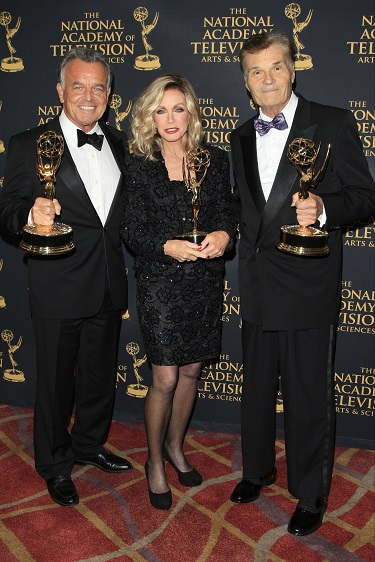 Photo Courtesy of Nina Prommer; LOS ANGELES - APR 24: Ray Wise, Donna Mills, Fred Willard at The 42nd Daytime Creative Arts Emmy Awards Gala at the Universal Hilton Hotel on April 24, 2015 in Los Angeles, California