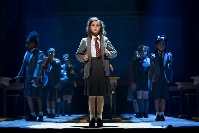 """Mia Sinclair Jenness and the Company of ""Matilda The Musical"" National Tour. Photo Courtesy of Joan Marcus."