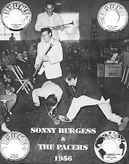 "Sonny Burgess and his legendary Pacers ""rip it up"" onstage in 1956."