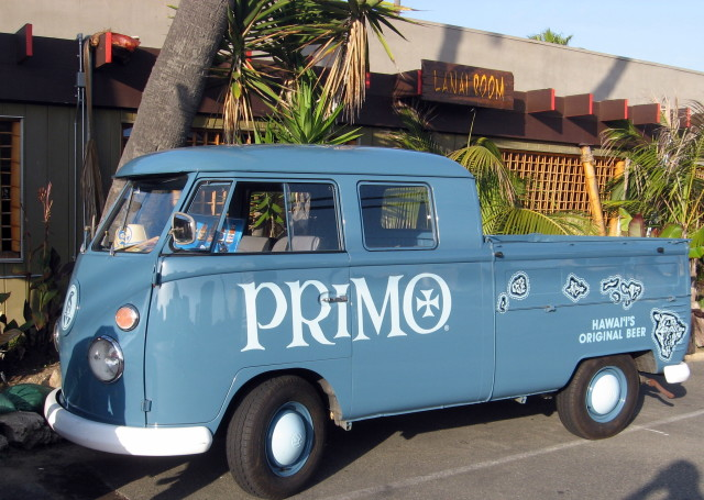 Primo VW Van in front of Don's. Photo by Ed Simon for The Los Angeles Beat.