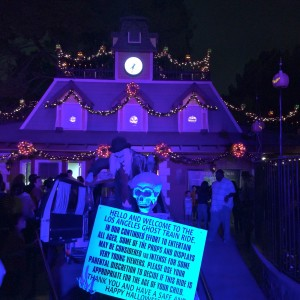 The entrance to the ghost train in Griffith Park (photo by Nikki Kreuzer)