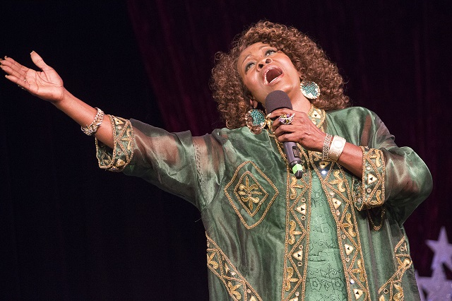 "Senior Star Search Winner Sandy Mack singing ""Over the Rainbow"", Photo Courtesy of Bill Dow Photography"