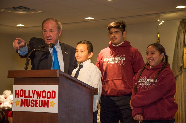 Tom Labonge and Dolores Mission Students: Future Mayor, Future City Attorney and Future Controller; Photo Courtesy of Bill Dow