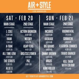 Air + Style Setlist