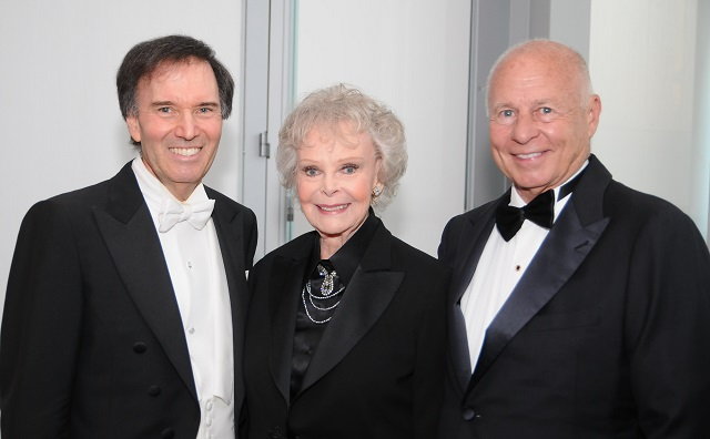 Maestro Greene with Tony Award winner June Lockhart and LA Lawyers Phil sponsor Thomas Girardi, Esq., of Girardi | Keese, Photo Courtesy of BHBPR