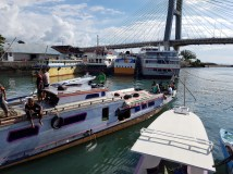 The public boat that costs IDR50,000 per pax.