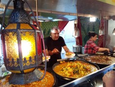 Moroccan cuisine at the Twilight Hawkers Market