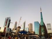 Perth skyline from Elizabeth Quay