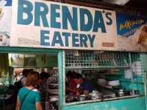 Brenda's eatery is right behind the lechon stalls. Very handy place to go!