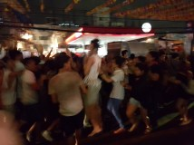 The craziness of the night street parties!