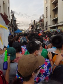 Slowly making our way into Khao San. Prepare for the crowd!