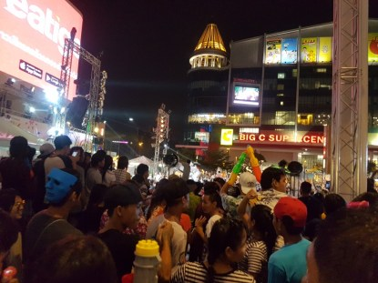 The crowd at CentralWorld