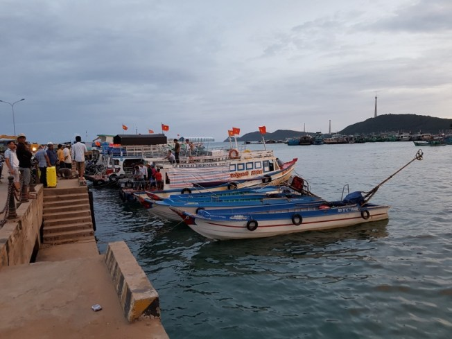 Fishing boats at An Thoi port