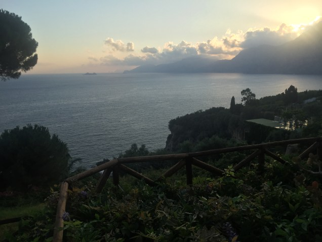 Our first Amalfi sunset