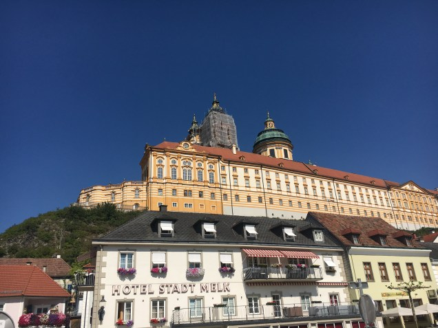 Partial view of the Melk Abbey