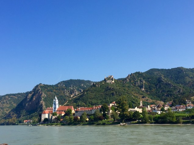 The view as our ferry left Krems