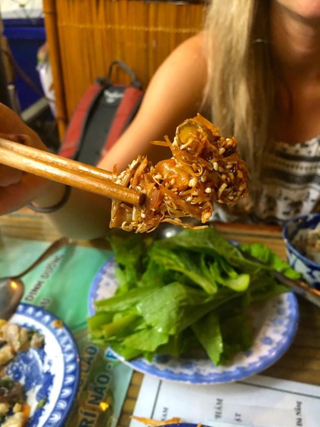 fried jack fruit in honey and sesame