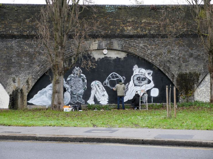 star wars mural leytonstone