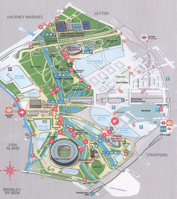 London Olympic Park map