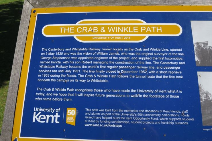 Crab and Winkle Path Canterbury