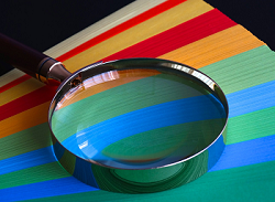 A magnifying glass is a convex lens
