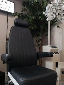 Patient Chair inside an Eye Exam Room