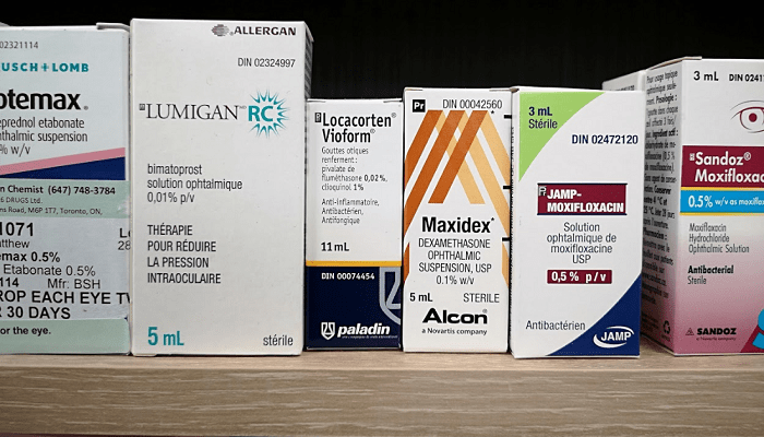 Lotemax Lumigan Locacorten Vioform Maxidex Moxifloxacin