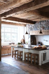 Gorgeous kitchen. Love the rustic feel.