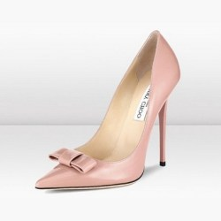 Jimmy Choo Blush Patent Leather Pointy Toe Pumps