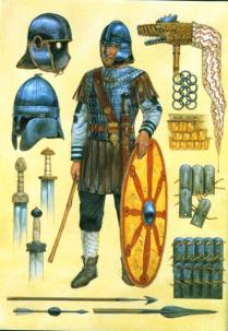 Infantryman, II Britannica, fourth century AD by Richard Hook