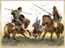 Alan and Sarmatian attacked by Hun late 4th century.