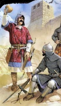 Alan nobleman and Khazar warrior, 8th C.