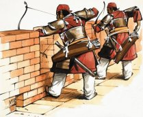 Archers at the wall
