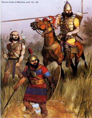 Assyrian troops in Babylon, early s. VII aC BC VII